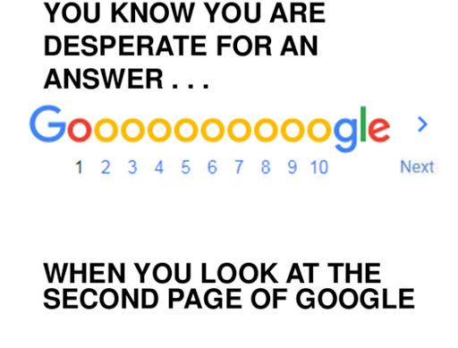 Jokia svetainė nenori liūdėti 15-tame Googlės puslapyje. 5 klausimai (ir atsakymai) apie SEO ir svetainių reitingavimą.